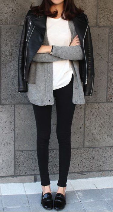 10-black-leggings-a-white-tee-black-slip-ons-and-a-grey-cardigan