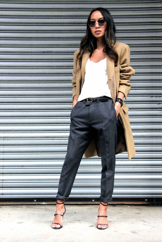 13-grey-cropped-pants-a-white-top-a-camel-coat-and-heels
