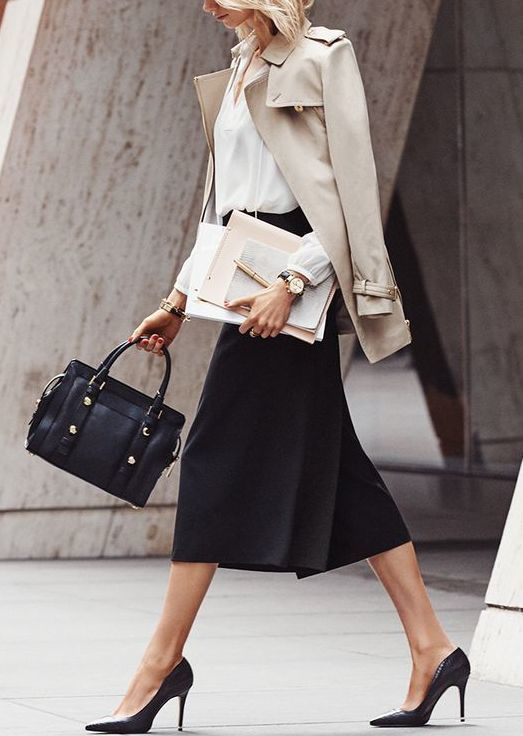 23-black-midi-skirt-a-white-button-down-a-nude-jacket-and-heels