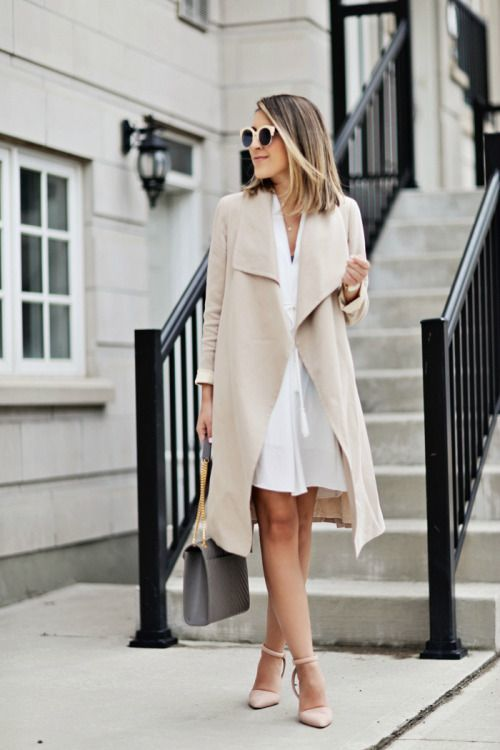 31-white-dress-a-nude-trench-coat-and-heels
