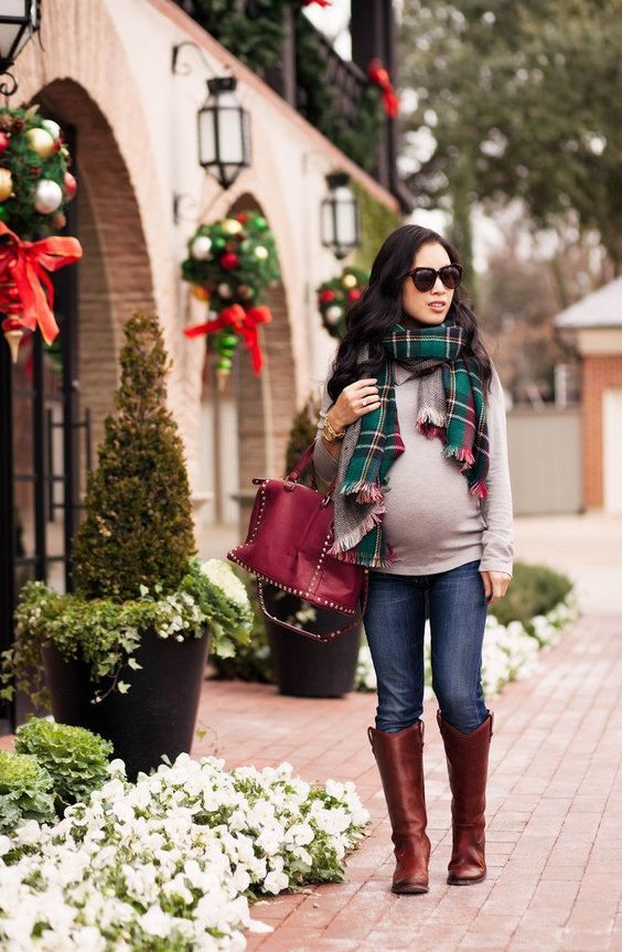 Winter Holiday Maternity Outfit Ideas Mco