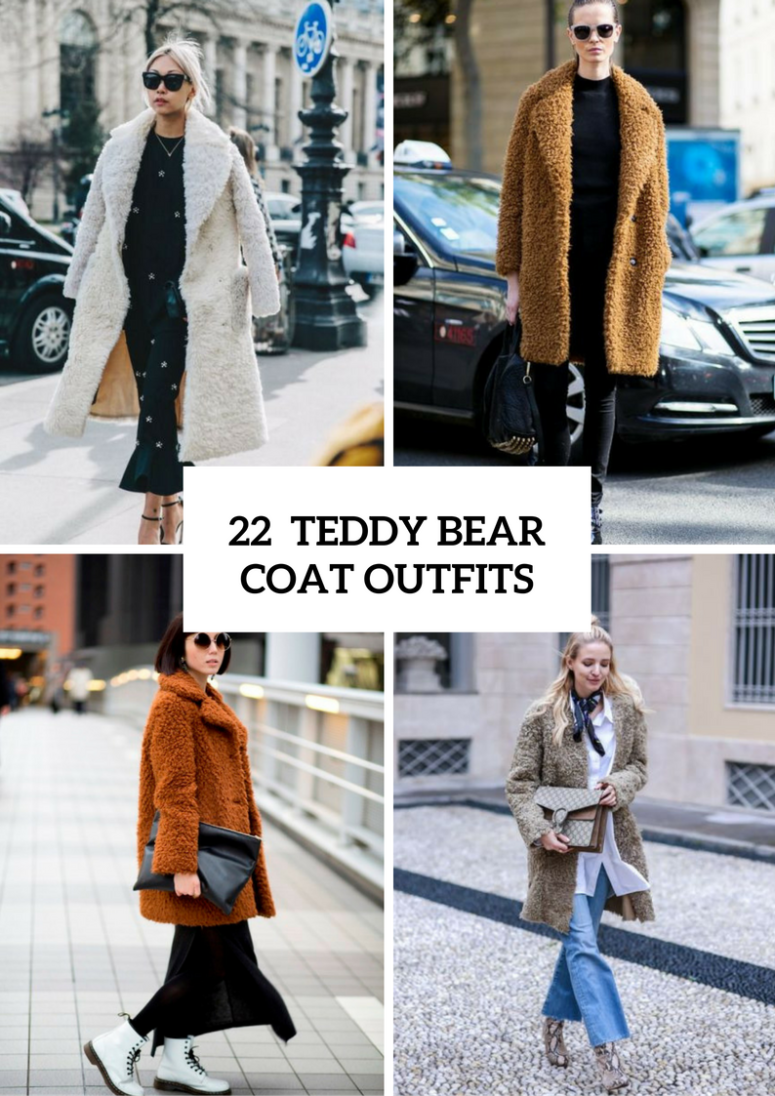 Winter Edition How To Style The Teddy Bear Coat Mco