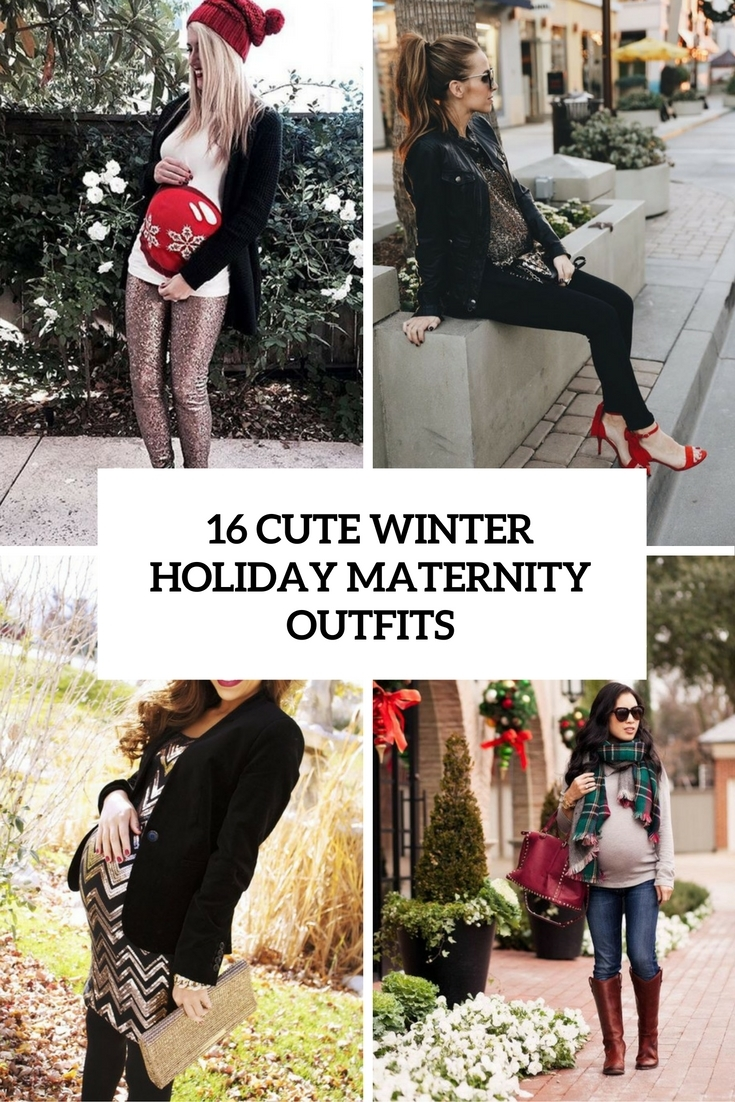 Winter Holiday Maternity Outfit Ideas