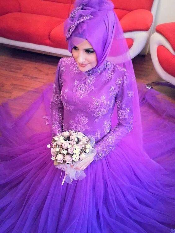 Cute Muslim Wedding Dresses featuring the Hijab