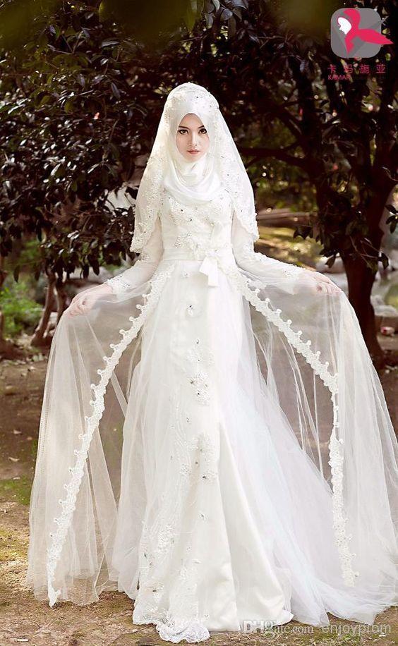 20+ Super Cute Muslim Wedding Dresses with Hijab You Shouldn\'t ...