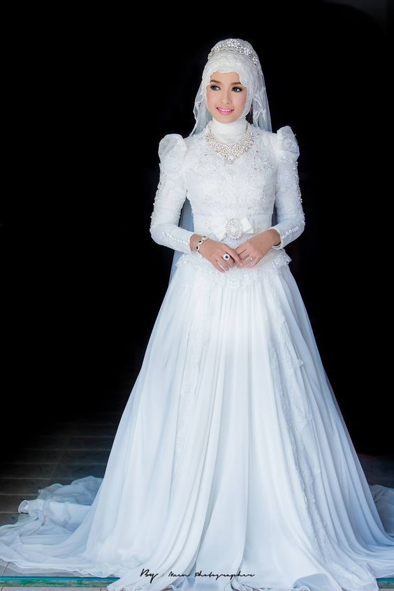 20 Super Cute Muslim Wedding Dresses With Hijab You Shouldnt Miss
