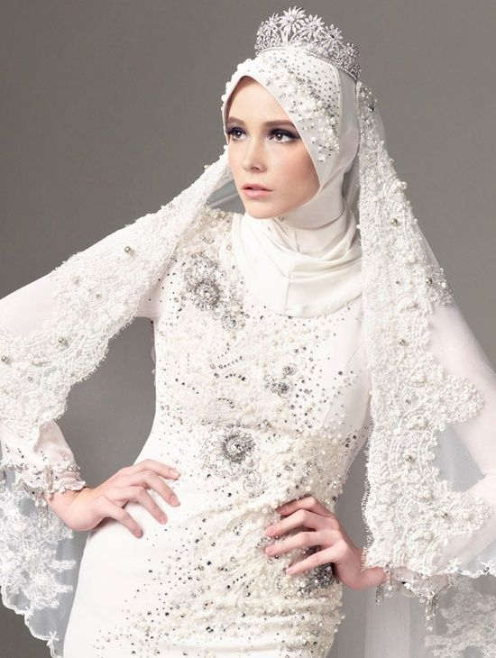 20 Muslim Wedding Dresses With Hijab Mco