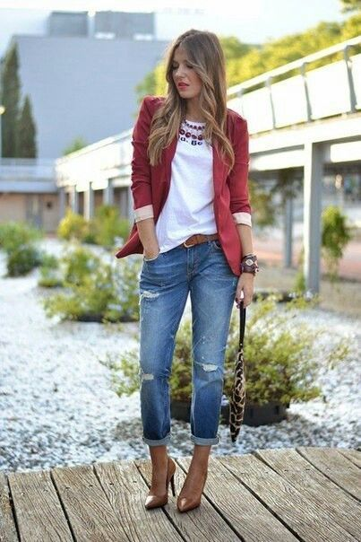 30+ Cute Outfits with Boyfriend Jeans