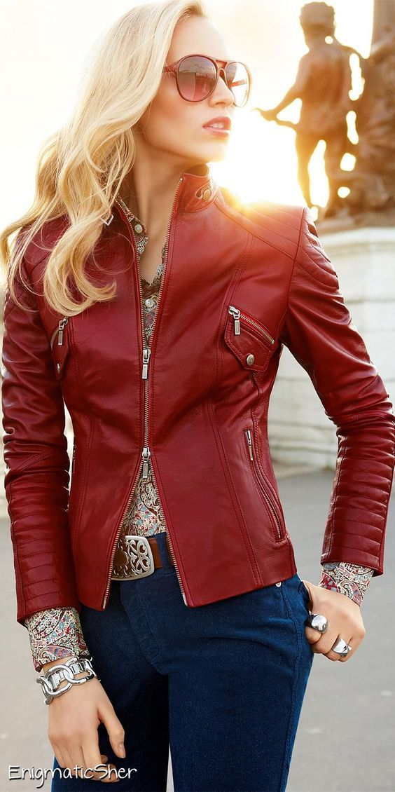 30+ Cool Leather Jacket Outfits