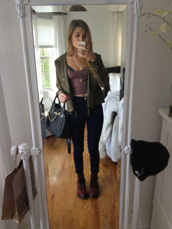 College girl in bomber jacket pt 1 - 2 5