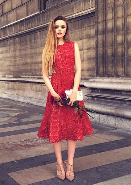 21 Cute Little Red Dress Perfect for Valentine's Day 2018