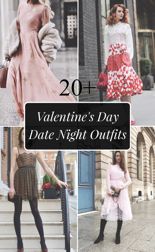20+ Valentine's Day Date Night Dinner Outfits for Women 2018