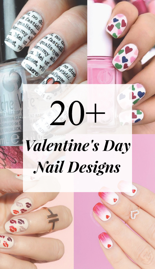 20+ Valentine's Day Nail Design 2018