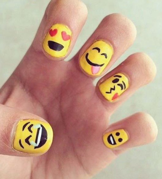22 Easy Emoji Nail Art Designs for Back to School 2018