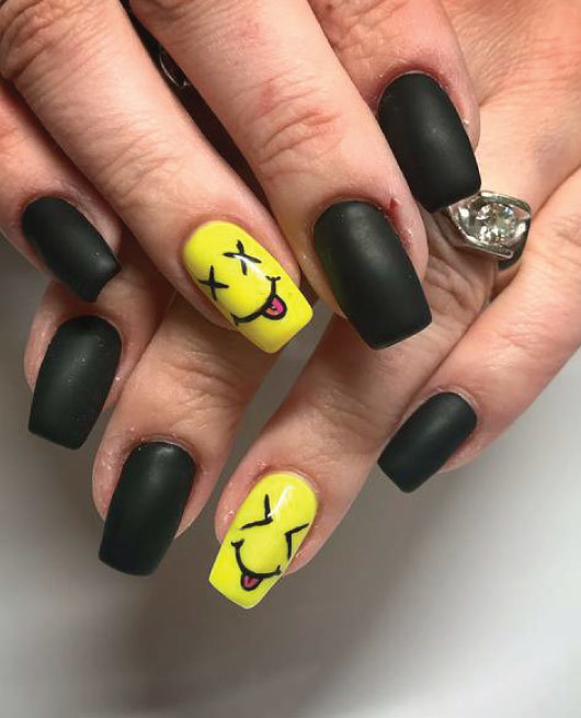22 Easy Emoji Nail Art Designs for Back to School 2018 | MCO | Page 8