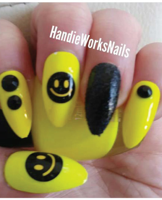 22 Easy Emoji Nail Art Designs for Back to School 2018 - Page 22 of ...