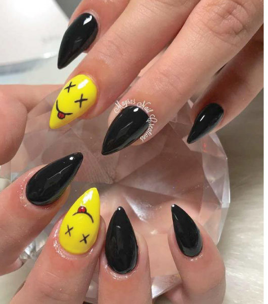 22 Easy Emoji Nail Art Designs For Back To School 2018 Mco