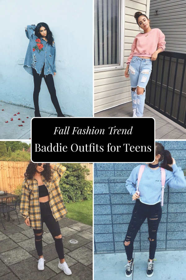 Casual style for fall. Baddie outfits for teens.